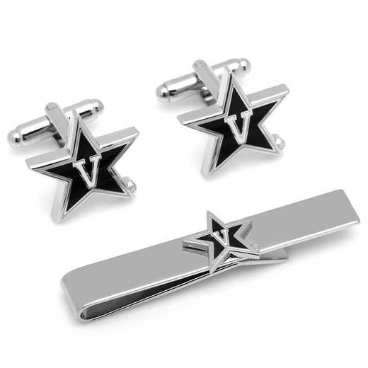 PD-VDB-CT: Vanderbilt Cufflinks and Tie Bar Gift Set
