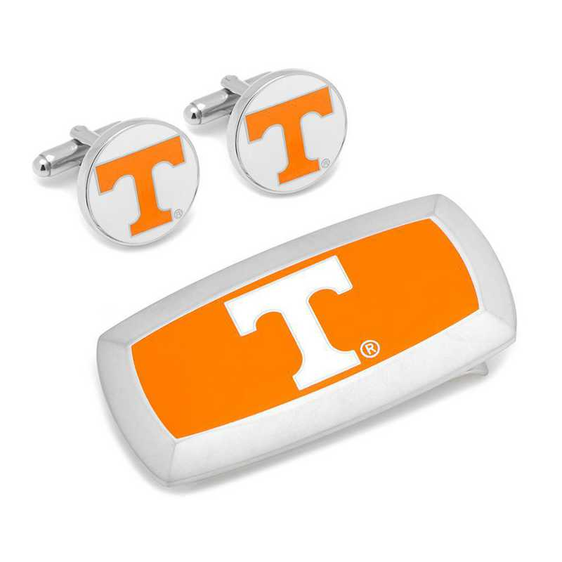 PD-VOLS-CM2: Tennessee Volunteers Cufflinks and Cushion Money Clip Set
