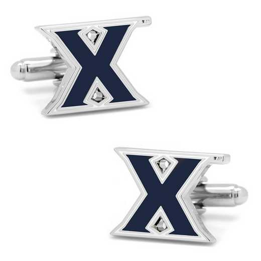 PD-XVR-SL: Xavier University Musketeers Cufflinks