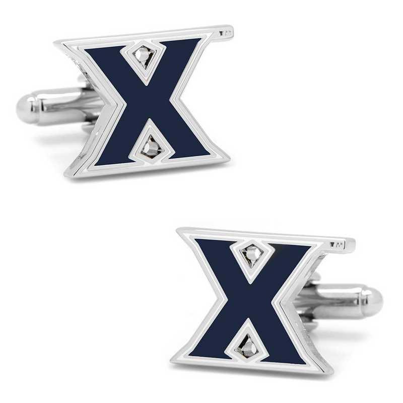 PD-XVR-SL: Xavier University Musketeers Cufflinks