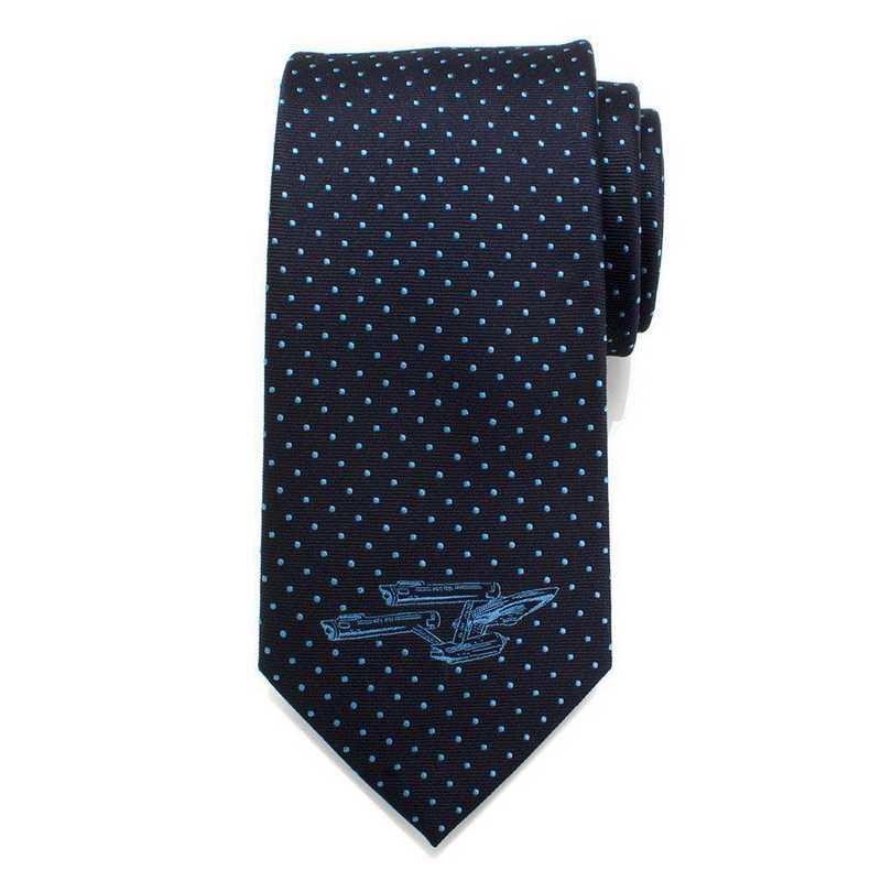 ST-ENTDT-BL-TR: Enterprise Dot Blue Men's Tie