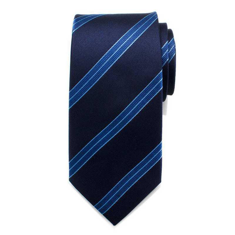 ST-ENTFL-BL-TR: Enterprise Flight Blue Stripe Men's Tie