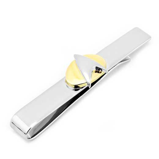 ST-SHD2-TB: Two Tone Star Trek Delta Shield Tie Bar