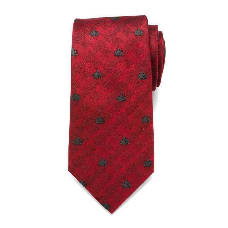 ST-TNG-RD-TR: TNG Red Delta Shield Men's Tie