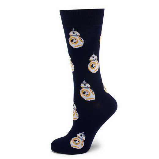 SW-BB8-BL-SC: BB-8 Navy Socks