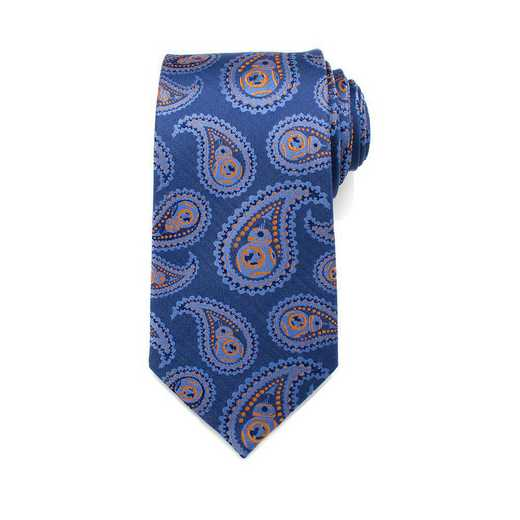 SW-BB8PS-BL-TR: BB-8 Blue Paisley Tie