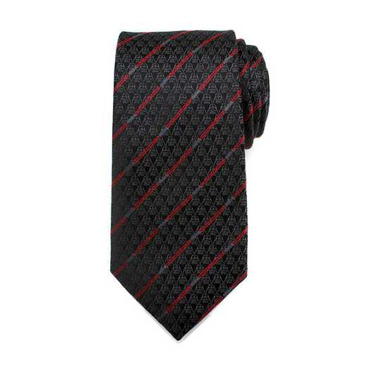 SW-DVLS-BK-TR: Darth Vader Black Lightsaber Stripe Mens Tie