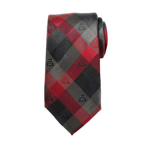 SW-DVPLD-RD-TR: Darth Vader Red Plaid Mens Tie