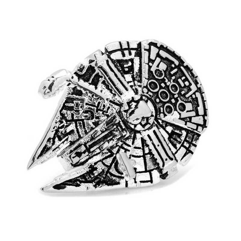 SW-MF3D-LP: 3D Millennium Falcon Lapel Pin