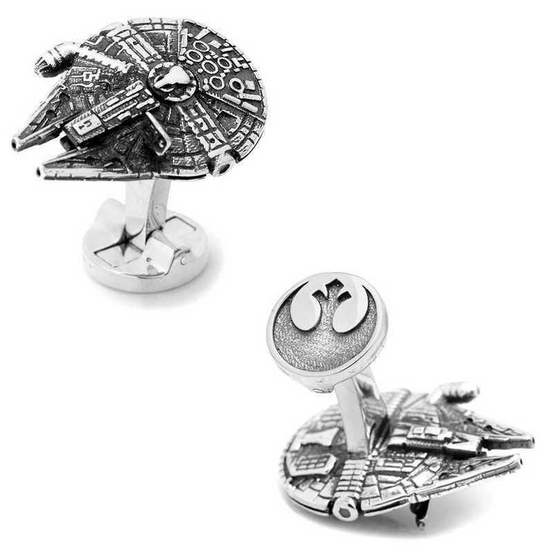SW-MF7-3D: 3D Millennium Falcon Cufflinks