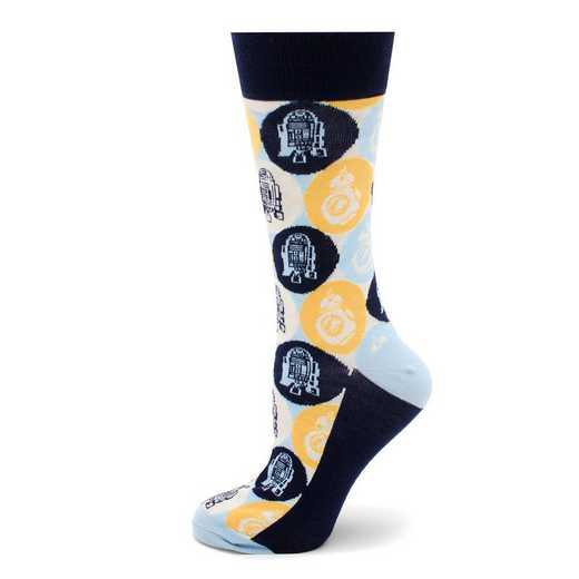 SW-R2BB8-BL-SC: R2D2 and BB-8 Pop Art Socks