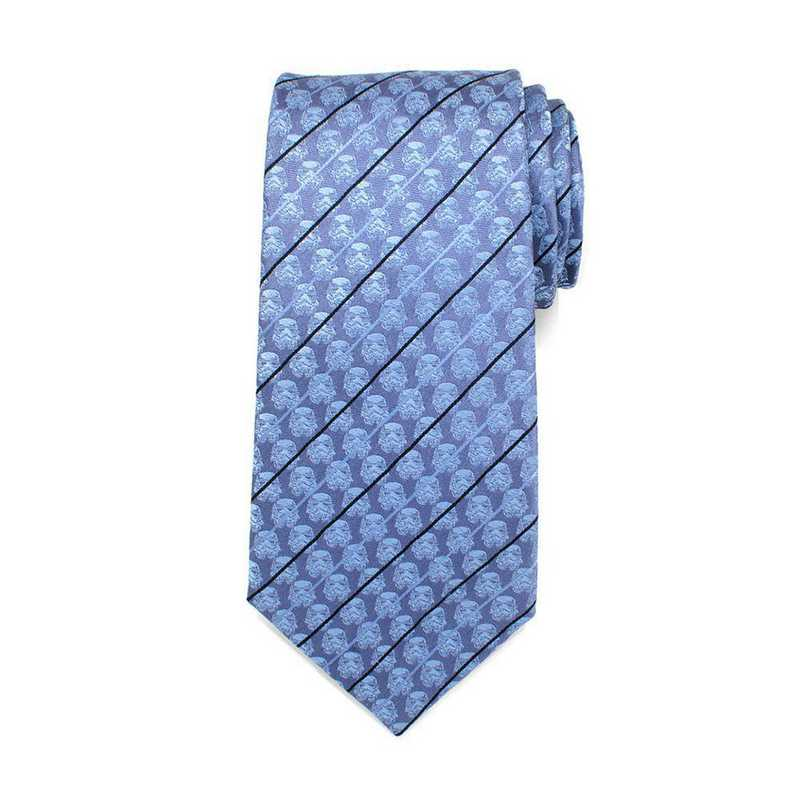 Officially Licensed Star Wars Stormtrooper Blue Modern Stripe Men/'s Tie