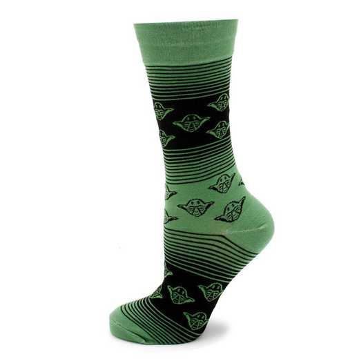 SW-YDOMB-GR-SC: Yoda Ombre Stripe Socks
