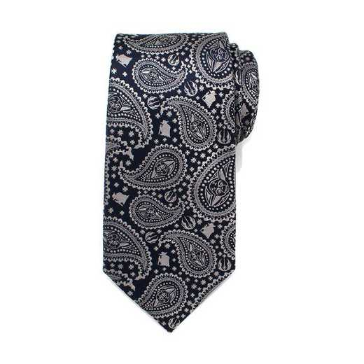 SW-YDPS-BL-TR: Yoda Navy Paisley Mens Tie