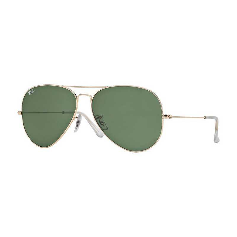 0RB302500162: Aviator Sunglasses - Gold & Green