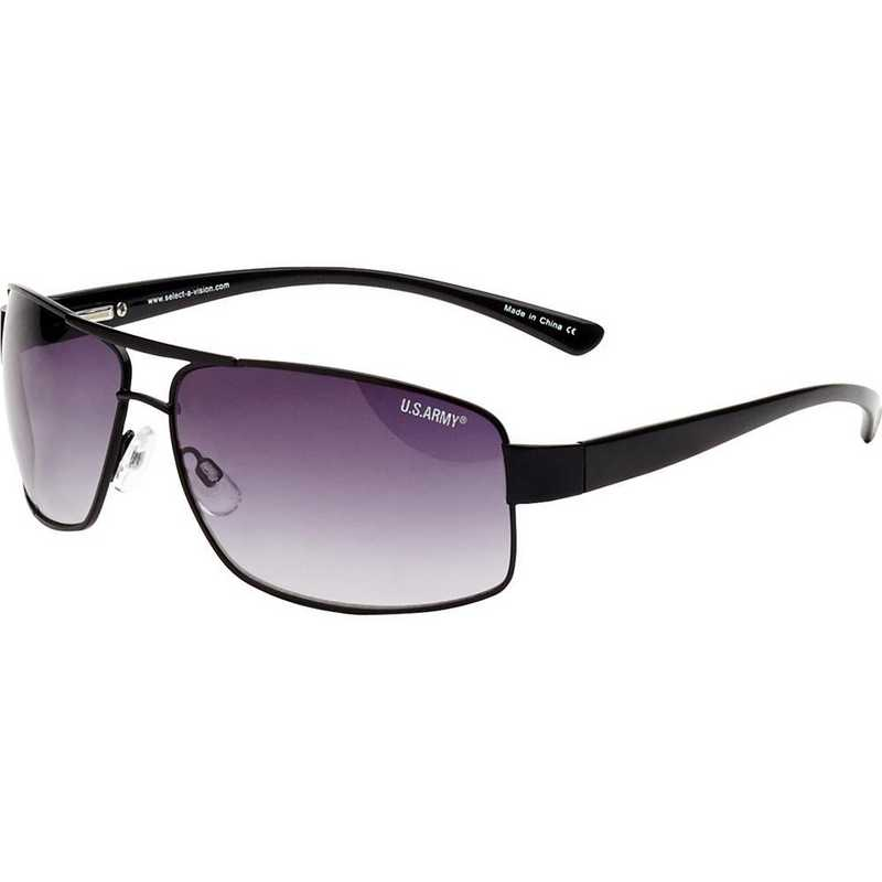 AR02-BLACK: Aviator Sunglasses - Black