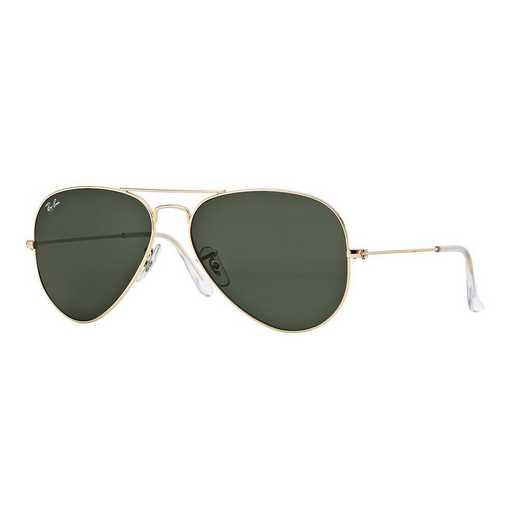 0RB3025L020558: Aviator Sunglasses - Gold