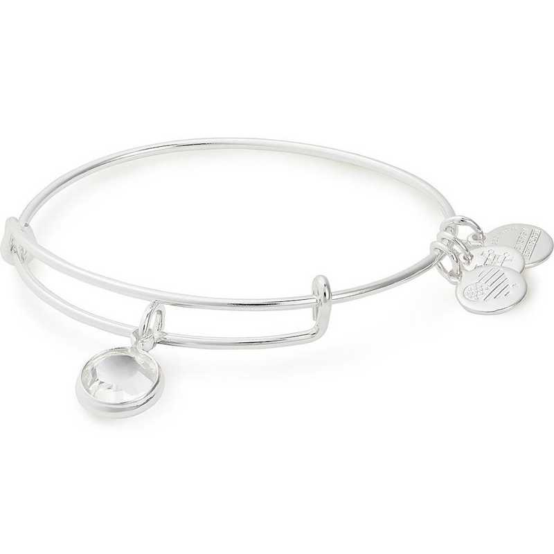 A19EB43SS: Alex and Ani April Birthstone Bangle - Crystal
