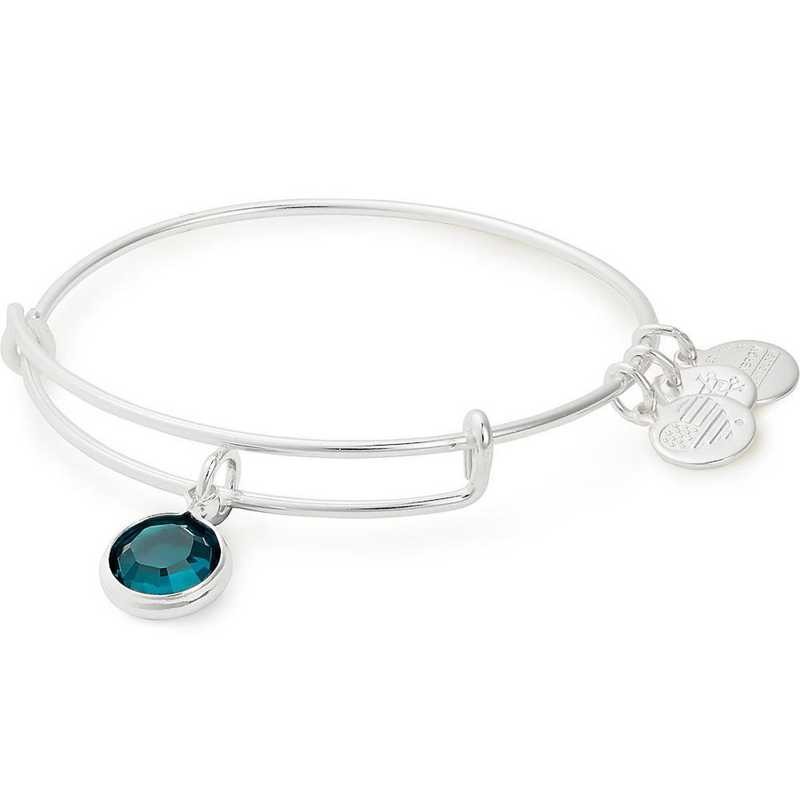 A19EB44SS: Alex and Ani May Birthstone Bangle - Emerald Crystal
