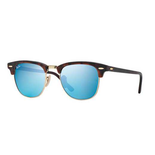 0RB301611451751: Clubmaster Flash Lens Classic Sunglasses - Blue