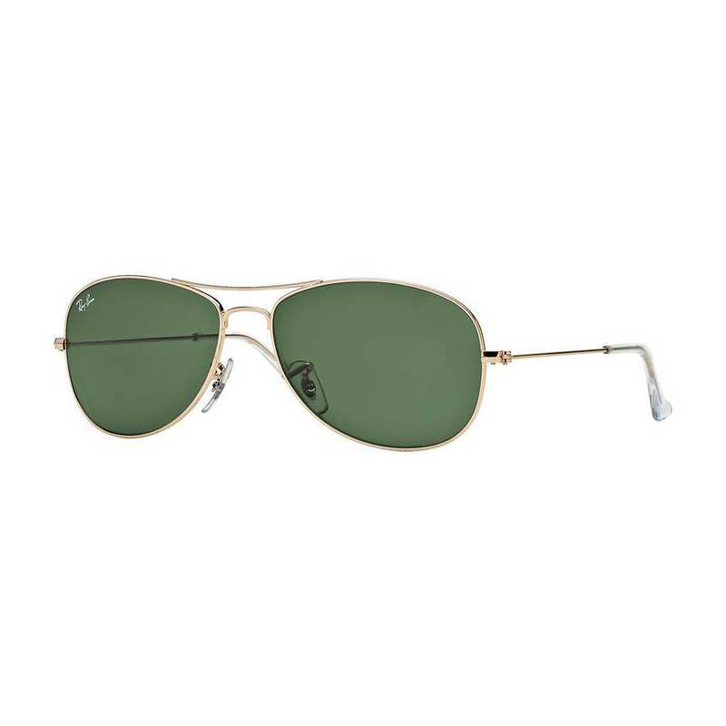 0RB336200159: Cockpit Sunglasses - Gold & Green