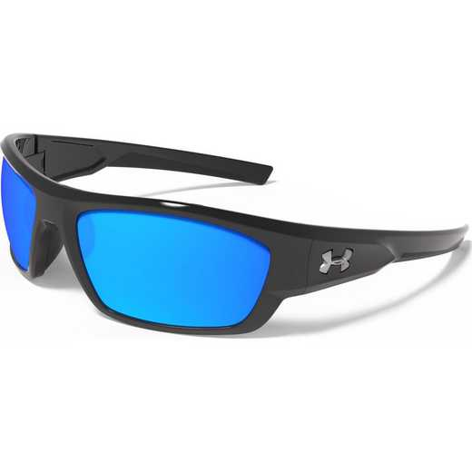 8630086-000168: Force Storm (ANSI) - Shiny Black  &  Blue Mirror Polarized