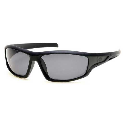 HD0631S-01D: Men's Polarized Sunglasses - Black & Smoke