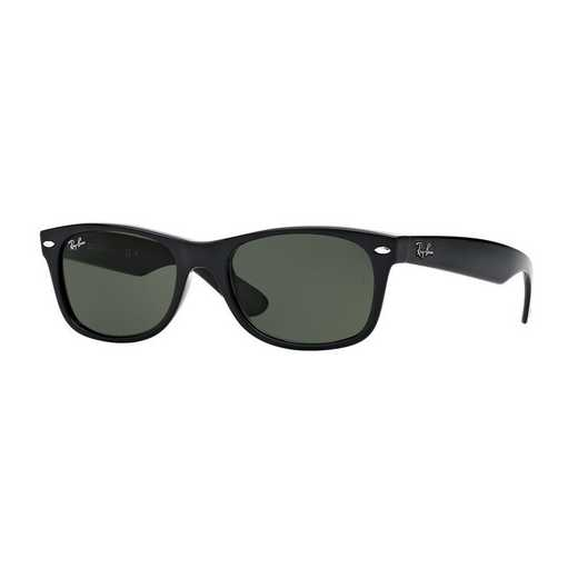 0RB213290152: New Wayfarer Sunglasses - Black & Green