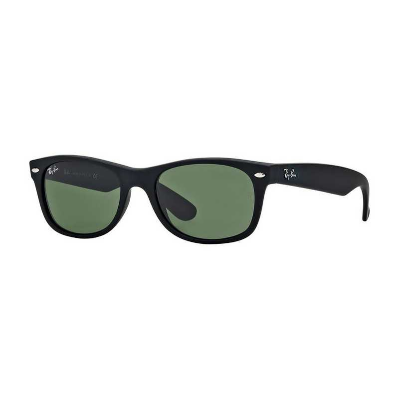 0RB213262252: New Wayfarer Sunglasses - Black Matte & Green