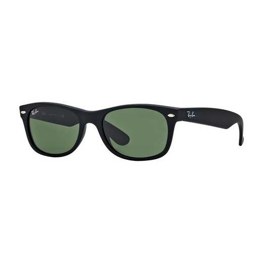 0RB213262255: New Wayfarer Sunglasses - Black Matte & Green