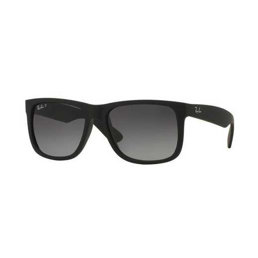 0RB4165622T355: Polarized Justin Classic Sunglasses - Black &  Grey Gradient