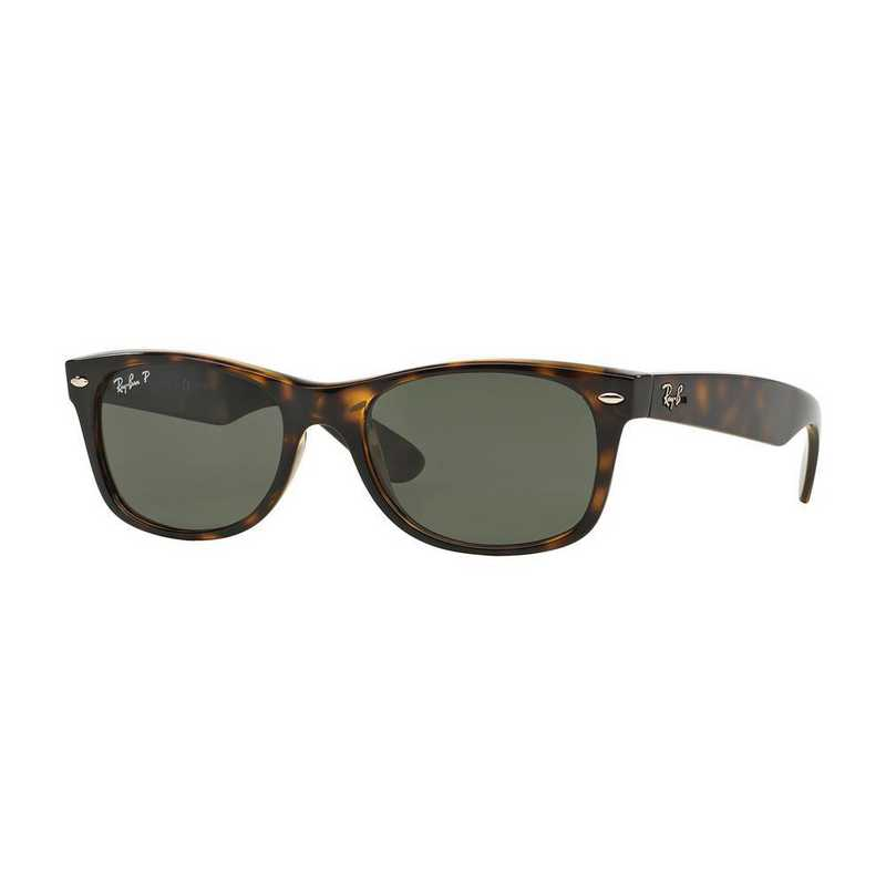 0RB21329025855: Polarized New Wayfarer Sunglasses - Tortoise & Green