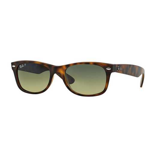 0RB21328947652: Polarized New Wayfarer Sunglasses - Tortoise Matte & Green