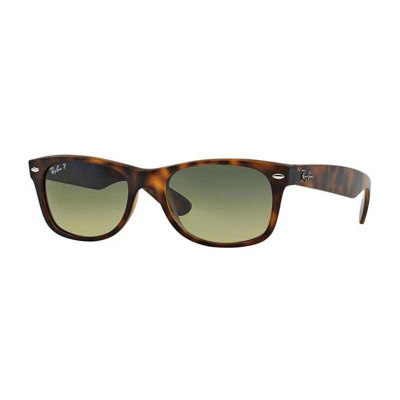 0RB21328947652: Polarized New Wayfarer Sunglasses - Tortoise Matte & Green