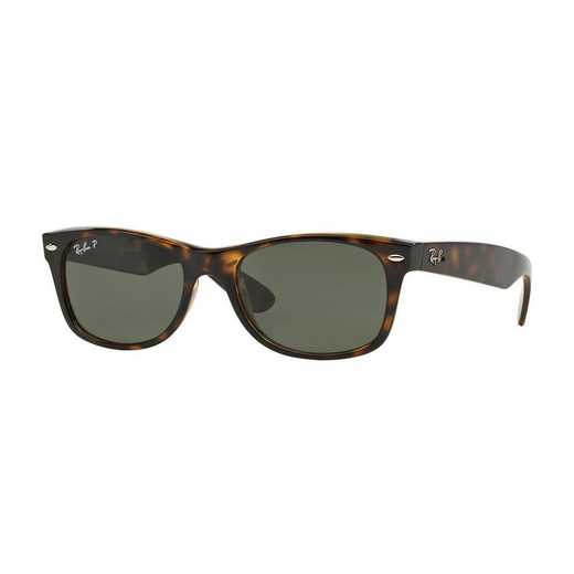 0RB21329025852: Polarized New Wayfarer Sunglasses - Tortoise & Green