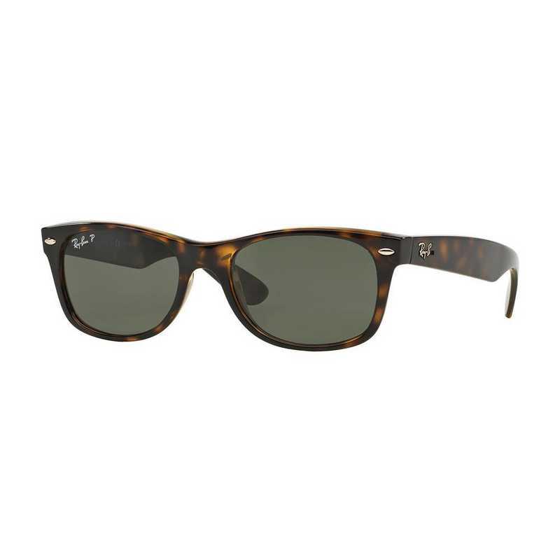 0RB21329025852: Polarized New Wayfarer Sunglasses - Tortoise & Green