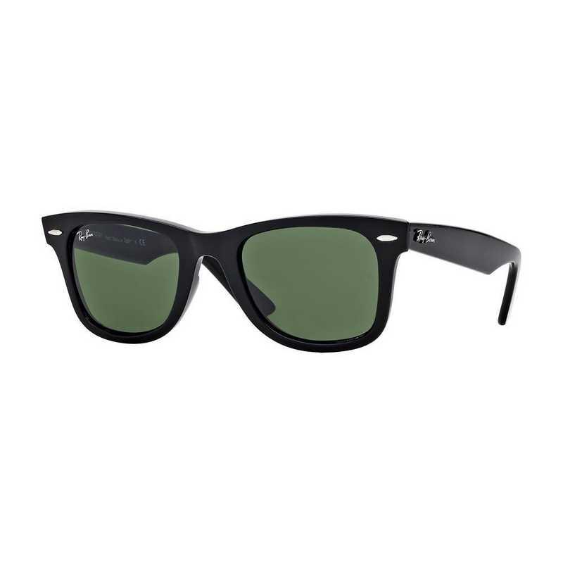 0RB214090154: Wayfarer Sunglasses - Black & Green