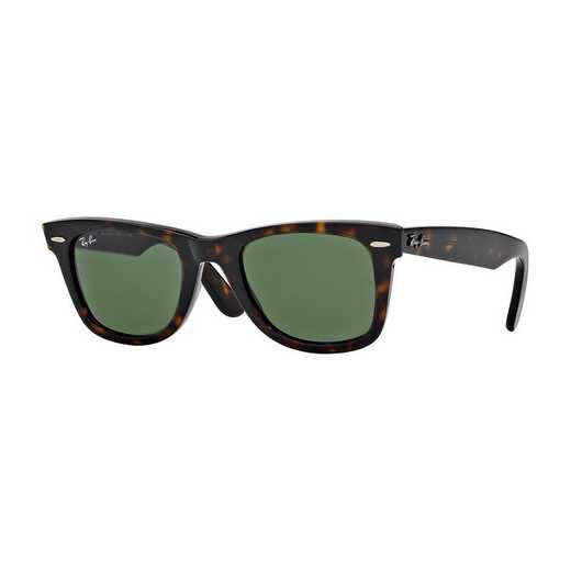 0RB214090250: Wayfarer Sunglasses - Tortoise & Green