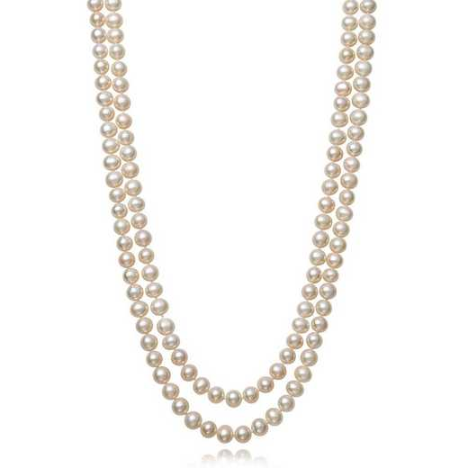 "QN-11701-BF: STERLING SILVER 7-8MM FRESHWATER PEARL 18""- 20"" NECKLACE"