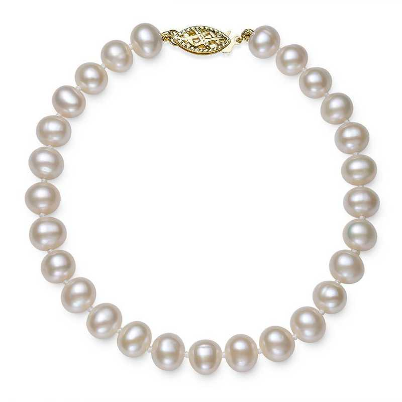 BF-56-A-75-BF: 14KT YELLOW GOLD 5-6MM FRESHWATER PEARL 7.5