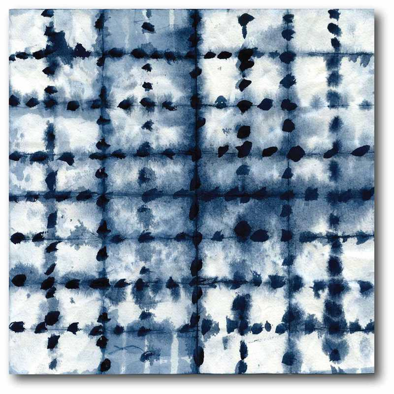 WEB-BN158-16x16: Tie dye Navy IV Canvas 16x20