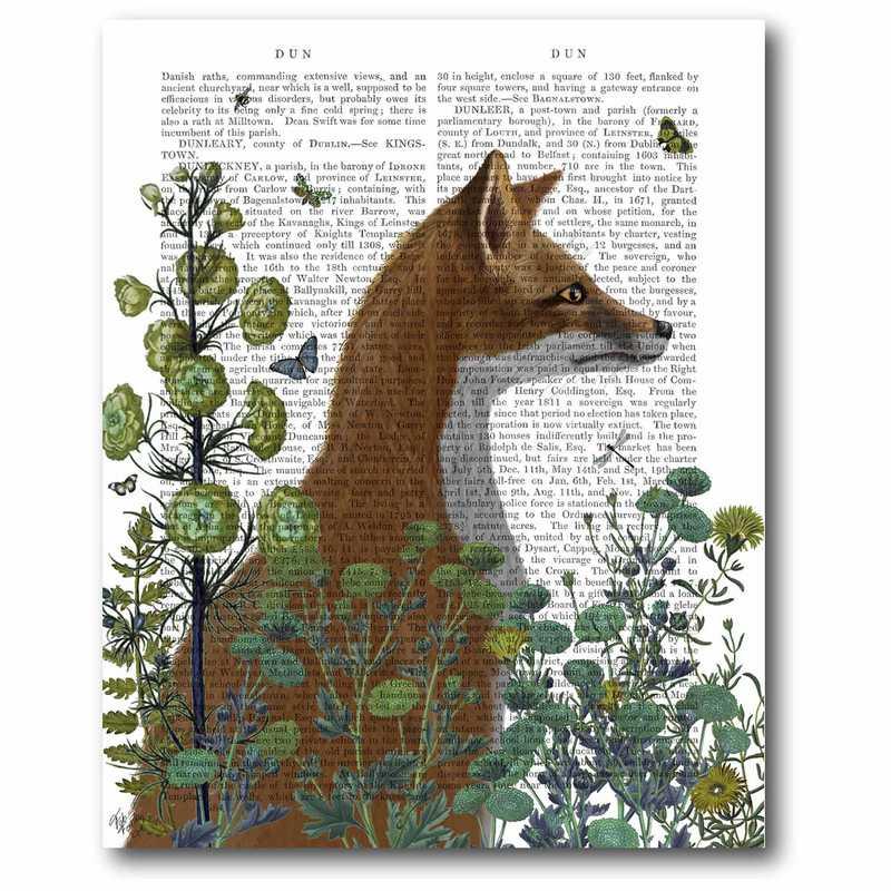 WEB-FA216-16x20: Fox in the Garden Canvas 16x20