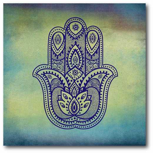 WEB-G211: Yoga Blues II Canvas 16x16