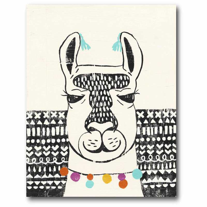 WEB-JV506-11x14: Llama Face I Canvas 11x14