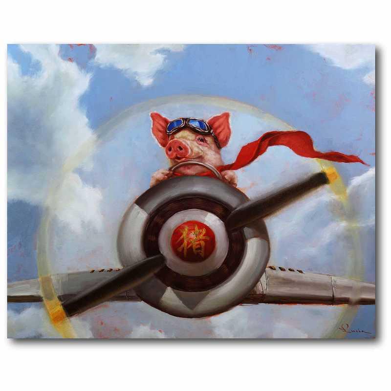 WEB-MV212-16x20: When Pigs Fly Canvas 16x20