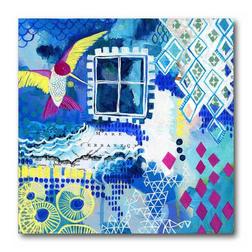 WEB-P208-16x16: Let Her In Canvas 16x16