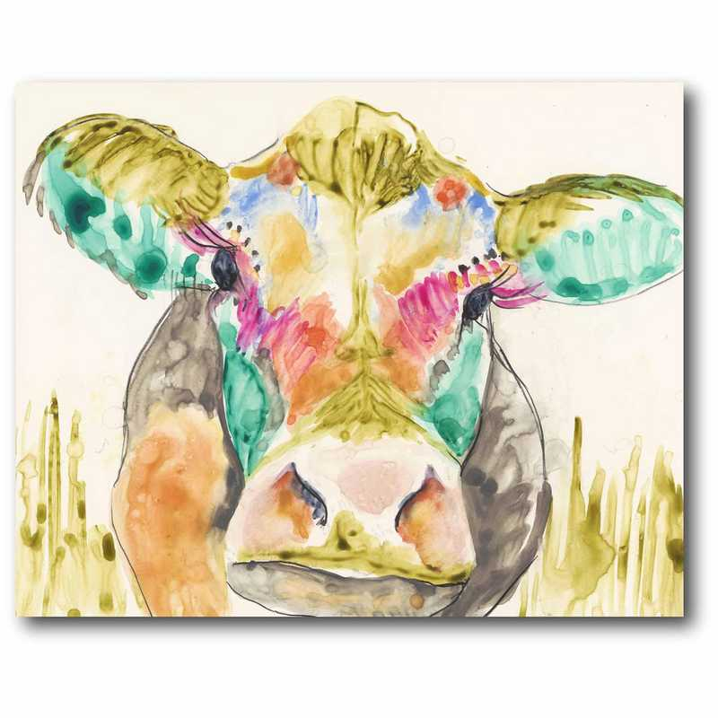 WEB-P201: Multi Color Cow 16x20