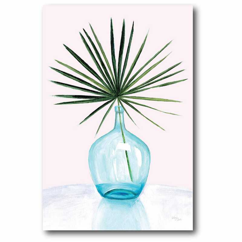 WEB-AG182-12x18: Palm in Vase I Canvas 12x18