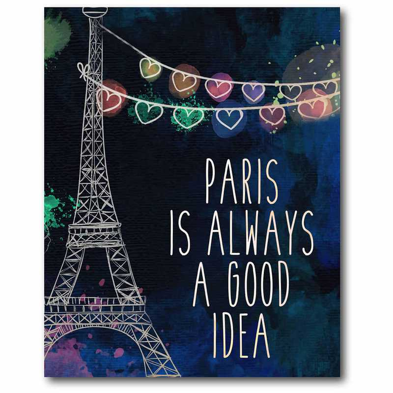 WEB-AP199-16x20: Paris is Always Canvas 16x20
