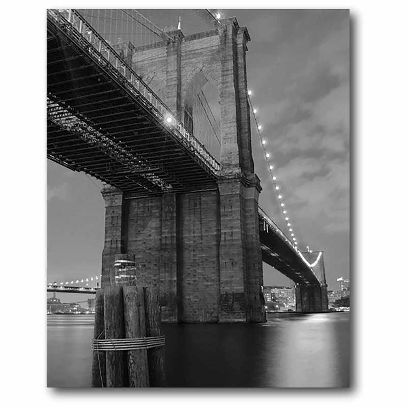 WEB-BW153: BW Brooklyn Bridge Canvas 16x20